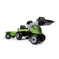 Трактор педальный с прицепом, зеленый арт. 710109