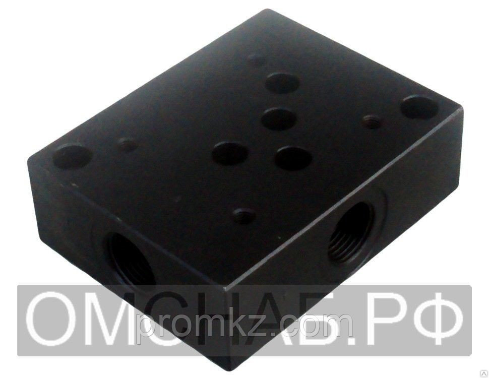 Плита Ду-10 (монтажная) переходная для гидрораспределителей ВЕ 10
