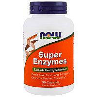 Супер ферменты.Содержат животный фермент панкреатин.  Now Foods, Super Enzymes, 90 Capsules