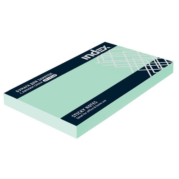 Клейкие листки INDEX 75 х 127 мм  голубые 100 листов