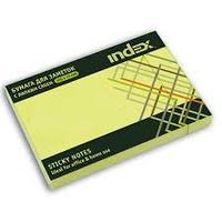 Клейкие листки INDEX 75 х 127 мм  зеленые 100 листов
