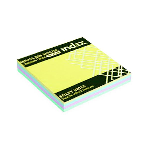 Клейкие листки INDEX 76 х 75 мм  4 цвета 100 листов