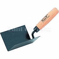 Кельма угловая, 110 х 75 х 75 мм, стальная, для внутренних углов, буковая ручка 86309 (002)