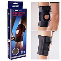 Наколенник защитный Knee support with stays на застежках