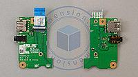 USB 2.0 и AUDIO порты, разъемы, плата для ASUS ASUS X550 X55M F453 X453 X453M X453MA R413MA P553MA X553