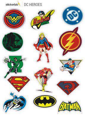 Стикер лист Stickerlab - DC Heroes