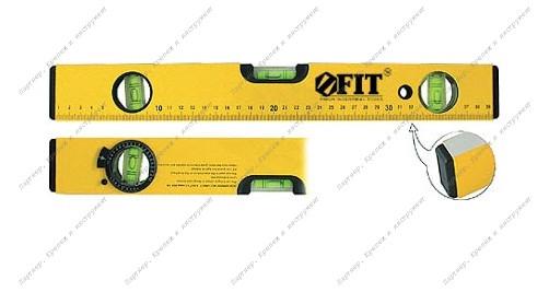 (18246) Уровень Профи усиленный, 2 глазка + 1 глазок поворот.,магнит., желтый 600 мм