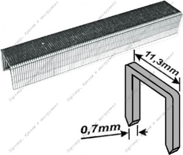(31310) Скобы закаленные Профи, узкие прямоугольные, (тип 53), ширина 11,3 мм, 10 мм 1000 шт.