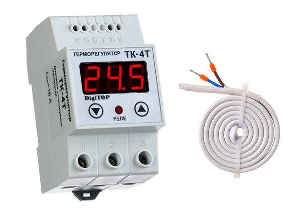 Терморегулятор ТК-4т (+10… 40°C, 16А)