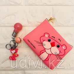 Стильный силиконовый кошелек Розовая пантера