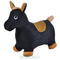 Прыгун-животное Spring Пони черный с коричневым