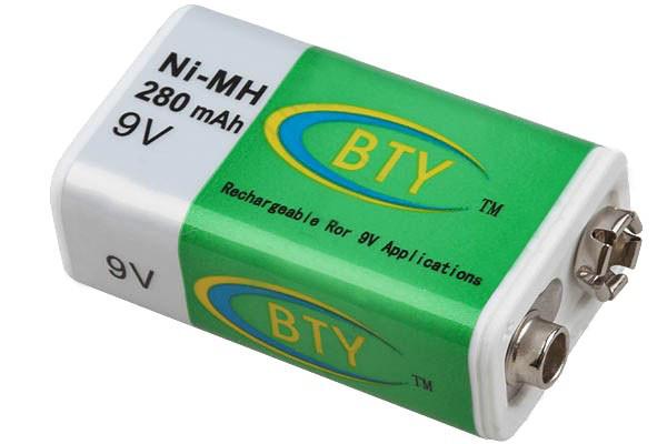 Аккумулятор BTY 9v 280mAh  Ni-MH