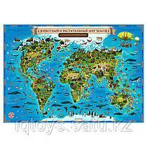 """Карта GLOBEN """"Животный и растительный мир Земли"""" для детей"""