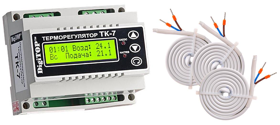 Терморегулятор ТК-7 (-50… +125°C, 6А)