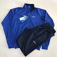 Костюм спортивный мужской Adidas голубой/черный