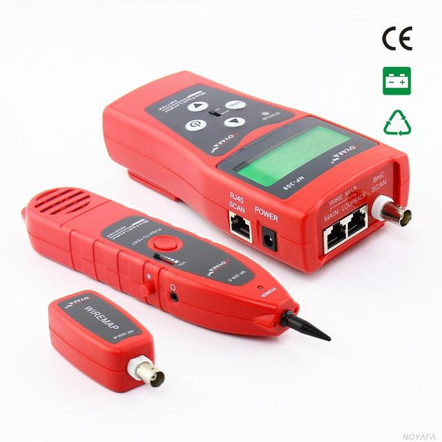 Многофункциональный кабельный тестер,трассоискатель  NF-308