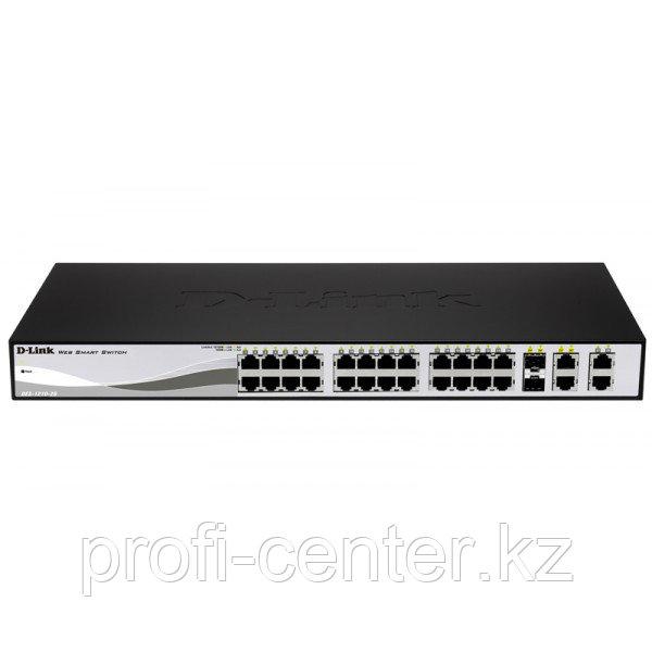 D-LINK DES-1210-28/ME/С1A Настраиваемый комм. 24 порта10/100+4порта 1000