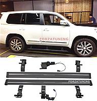 Электрические выдвижные пороги подножки для Toyota Land Cruiser 200 2012-2018 , фото 1