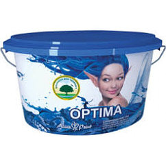 Моющая акриловая краска д/стен и потолков Optima 3 кг