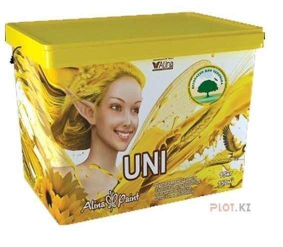 Латексная краска д/стен и потолков Uni 3 кг купить в Павлодаре