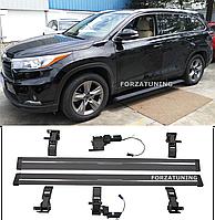 Электрические выдвижные пороги подножки для Toyota Highlander/Kluger 2014-2018