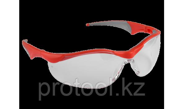 """Очки ЗУБР """"МАСТЕР"""" защитные, прозрачные, поликарбонатная монолинза с мягкими двухкомпонентными дужками, фото 2"""