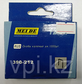 Скобы для мебельного степлера, тип 53, 12мм. 1000шт. MEI DE