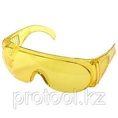 """Очки STAYER """"STANDARD"""" защитные, поликарбонатная монолинза с боковой вентиляцией, желтые"""