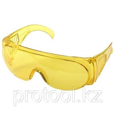 """Очки STAYER """"STANDARD"""" защитные, поликарбонатная монолинза с боковой вентиляцией, желтые, фото 2"""