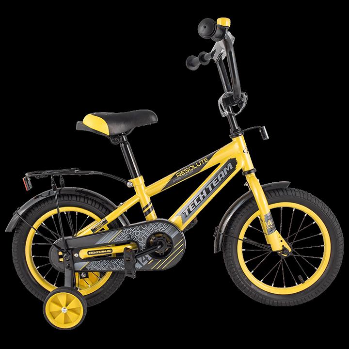 "Детский велосипед Tech Team 134 - 14"" Жёлтый"