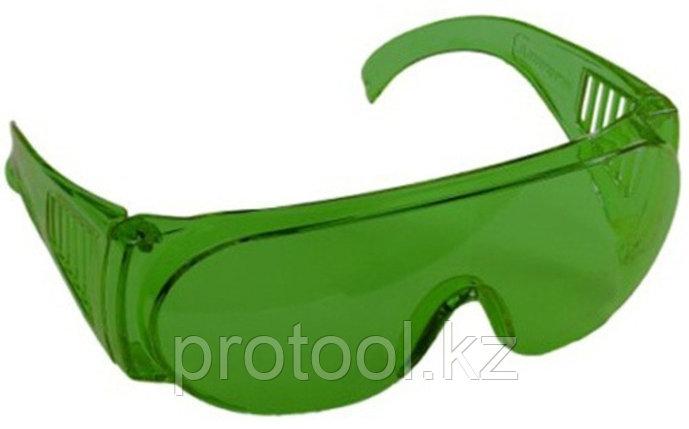 """Очки STAYER """"STANDARD"""" защитные, поликарбонатная монолинза с боковой вентиляцией, зеленые, фото 2"""