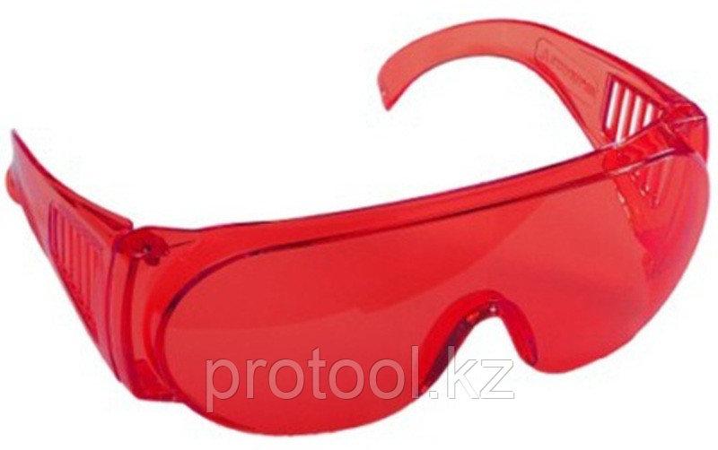 """Очки STAYER """"STANDARD"""" защитные, поликарбонатная монолинза с боковой вентиляцией, красные"""