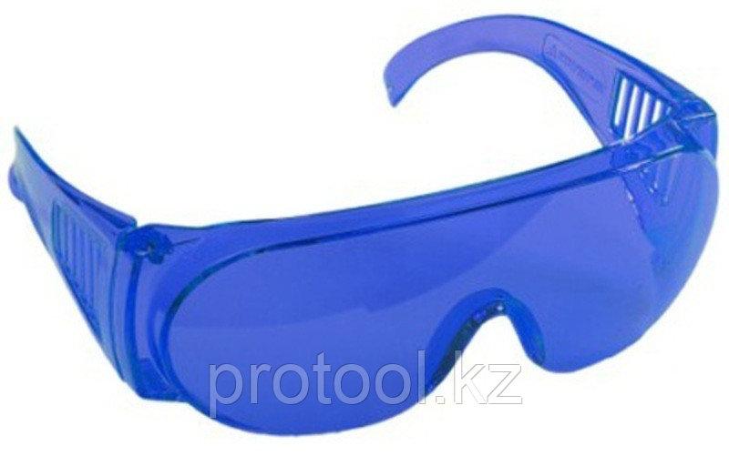 """Очки STAYER """"STANDARD"""" защитные, поликарбонатная монолинза с боковой вентиляцией, голубые"""