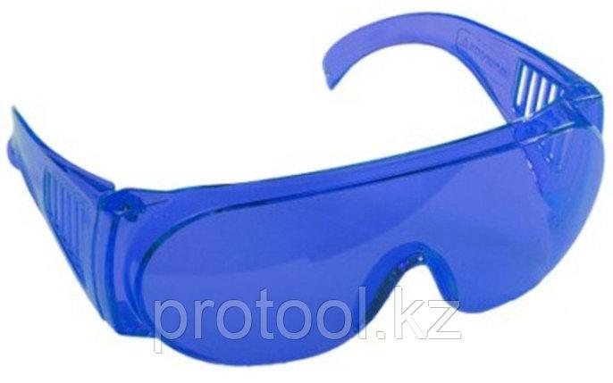 """Очки STAYER """"STANDARD"""" защитные, поликарбонатная монолинза с боковой вентиляцией, голубые, фото 2"""