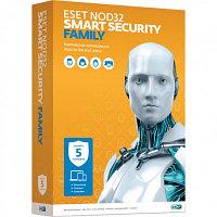 ESET NOD32 Smart Security Family – универсальная лицензия на 1 год на 5 устройств NOD32-ESM-NS(BOX)-1-5
