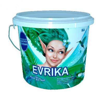 Универсальная матовая эмаль на водной основе Evrika 3 кг