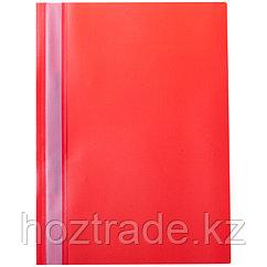 Скоросшиватель пластиковый OfficeSpace 160 мкм , красный
