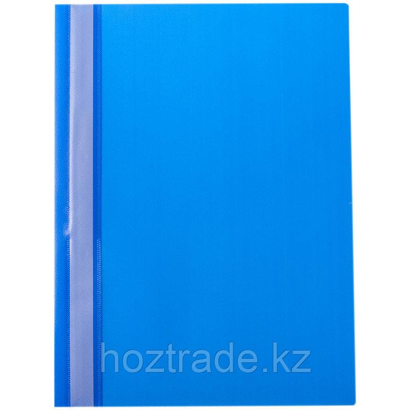 Скоросшиватель пластиковый OfficeSpace 160 мкм синий