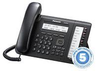 IP системный телефон, c 3-строчным ЖК-дисплеем, 2 гигабитных порта с PoE / RU/ KX-NT553