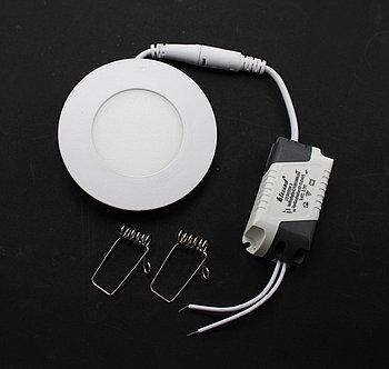 LED Спот панель круглый встр.3w  6500K