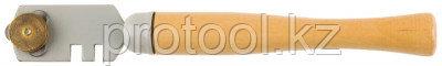 "Стеклорез STAYER ""MASTER"", деревянная ручка, 3 ролика, фото 2"