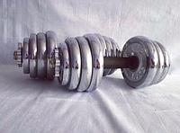 Гантели разборные 10 кг + 10 кг (резина)