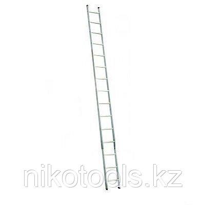 Алюминиевая приставная лестница 15 Corda Н=4,1/5,0м (010155)