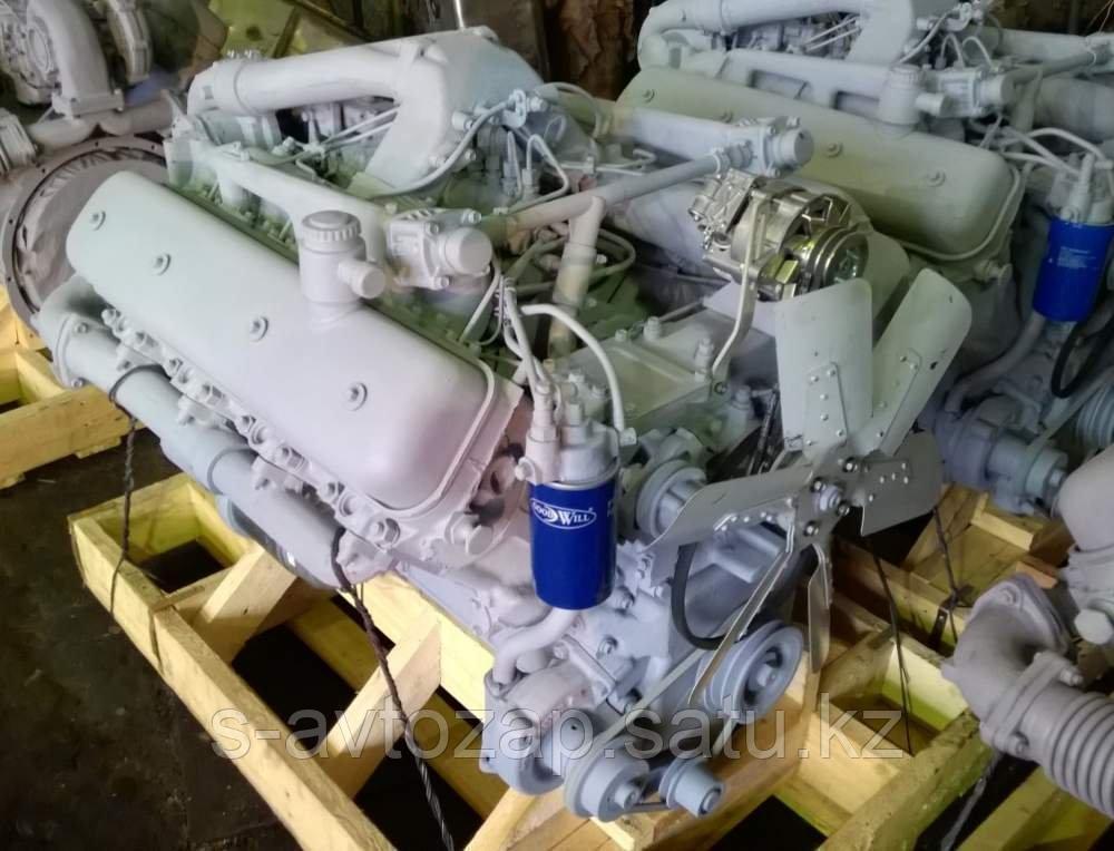 Двигатель (индивидуальной сборки) на новом заводском блоке без кпп и сцепления ЯМЗ 236БЕ-1000186