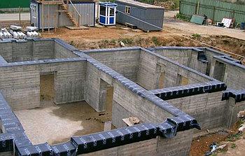 Заливка фундамента для дома