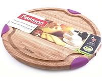 8804 FISSMAN Разделочная доска круглая 25.4x2.1 см (бамбук)