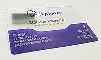 Пластиковые прозрачные визитки, фото 1