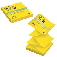 "Клейкие листки POST-IT ""Optima"" Z-укладка, желтый неон, 76х76 мм, 100 листов"