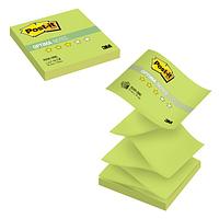 """Клейкие листки POST-IT """"Optima"""" Z-укладка, зеленый неон, 76х76 мм, 100 листов"""