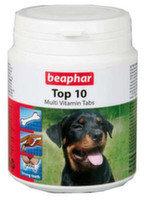 BEAPHAR Top 10 180таб For Dogs Комплекс витаминов топ 10, с L-карнитином для собак